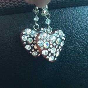beautiful heart shaped Betsey Johnson earrings